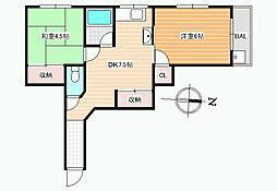 パル恵我之荘[2階]の間取り
