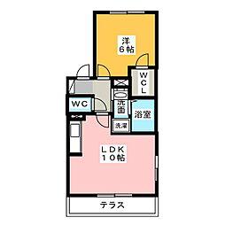 ラ・テール[1階]の間取り