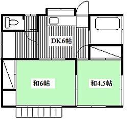 [一戸建] 東京都小金井市緑町2丁目 の賃貸【/】の間取り