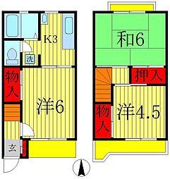 [テラスハウス] 千葉県松戸市栄町5丁目 の賃貸【千葉県/松戸市】の間取り