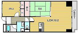 大阪府摂津市千里丘7丁目の賃貸マンションの間取り