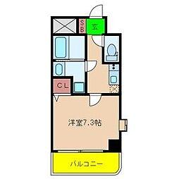 クラウンハイム瑞光フラワーコート[8階]の間取り