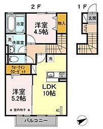 コンフォ−ト[2階]の間取り