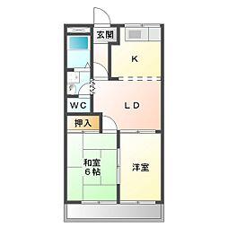 ちゅうりっぷ[2階]の間取り