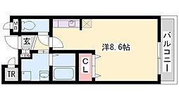 プラティークレーブⅢ[1階]の間取り