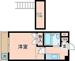 千葉県市川市欠真間2の賃貸マンションの間取り