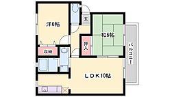 兵庫県高砂市伊保3丁目の賃貸アパートの間取り