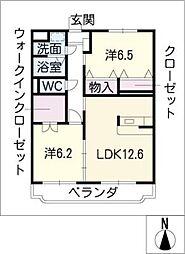 ピノプエブロ[2階]の間取り