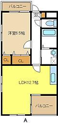 愛知県名古屋市天白区元八事3の賃貸マンションの間取り