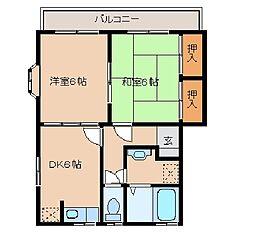 千葉県市原市柏原の賃貸アパートの間取り