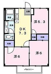 ハイマート鹿島[1階]の間取り