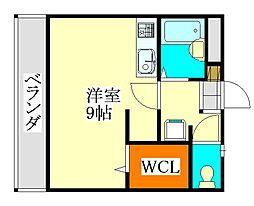 シャンブル・ミモザ[203号室]の間取り
