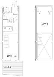 西武新宿線 上石神井駅 徒歩9分の賃貸マンション 1階1LDKの間取り