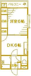 サンライズ大倉山[3階]の間取り