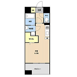 JR鹿児島本線 吉塚駅 徒歩5分の賃貸マンション 4階ワンルームの間取り