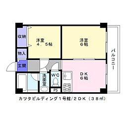 カツタビルディング1号館[2階]の間取り