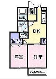 千葉県茂原市小林の賃貸アパートの間取り