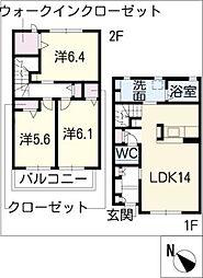 [タウンハウス] 愛知県日進市赤池町西組 の賃貸【/】の間取り