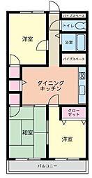 ライオンズマンション三笠公園[803号室]の間取り