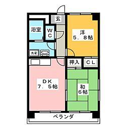 ルガール21[1階]の間取り