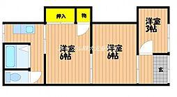 ハイツヨコヤマ[1階]の間取り