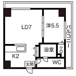 AMSタワー中島[7階]の間取り