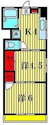 第13アサヒハイツ[4階]の間取り
