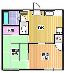 カサクララ[1階]の間取り