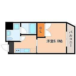 Osaka Metro御堂筋線 動物園前駅 徒歩5分の賃貸マンション 5階1Kの間取り