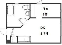 北海道札幌市豊平区美園十一条7丁目の賃貸マンションの間取り