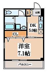 グレースA[3階]の間取り