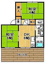 グリーンハイム[1階]の間取り