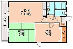 クレールマノワール[3階]の間取り
