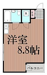 東京都大田区南馬込5丁目の賃貸マンションの間取り