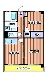 東京都立川市錦町6丁目の賃貸マンションの間取り