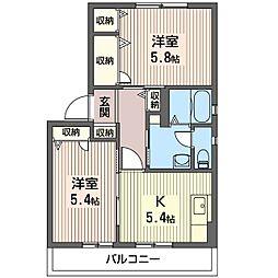 セレノハイツ[2階]の間取り