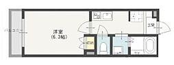 京成本線 京成高砂駅 徒歩8分の賃貸マンション 2階1Kの間取り
