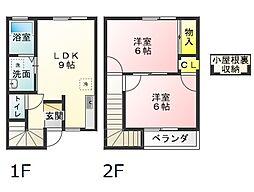 プレーヌ[R3号室]の間取り