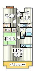 ビューパークヤマモ[2階]の間取り