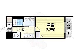 北大阪急行電鉄 桃山台駅 徒歩12分の賃貸マンション 3階1Kの間取り