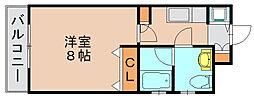 ピュアドームエクセル博多[8階]の間取り
