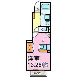 プリートカーサマルタII[1階]の間取り