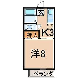 メゾネットAI[2階]の間取り