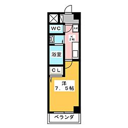 プルミエ千成[2階]の間取り