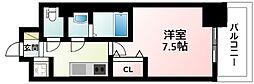 JR東海道・山陽本線 新大阪駅 徒歩11分の賃貸マンション 7階1Kの間取り