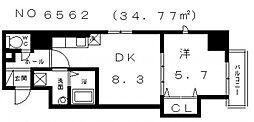 プランドール上本町[7階]の間取り