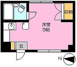 サウスコート本庄宮(家具家電付)[3階]の間取り
