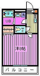 埼玉県さいたま市西区宝来の賃貸アパートの間取り