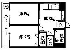 鈴マンション[102号室]の間取り