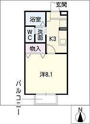 サンライズマンション A棟[1階]の間取り